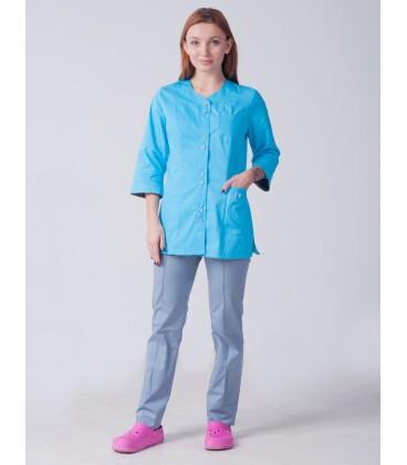 Медицинский женский костюм 5244 на пуговицах