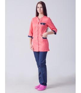 Медицинский женский костюм 5246 с вставками