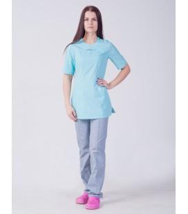 Медицинский женский костюм 4312 яблоко хирургический
