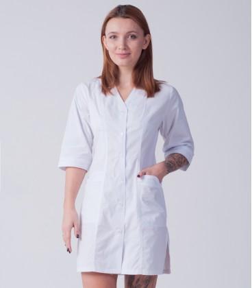 медицинский халат 4186 с острым вырезом