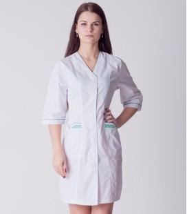 медицинский халат 4188 с яркими карманами