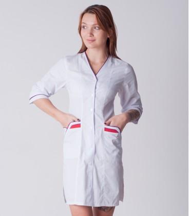 медицинский халат 4189 с яркими карманами