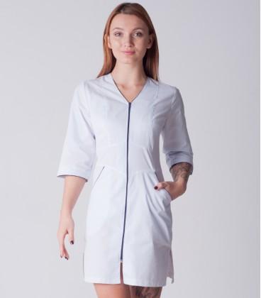 медицинский халат 4196 с синим замком