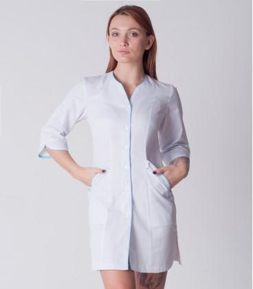 медицинский халат 5139 с голубым