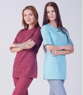Медицинский женский костюм 4311 бордовый хирургический