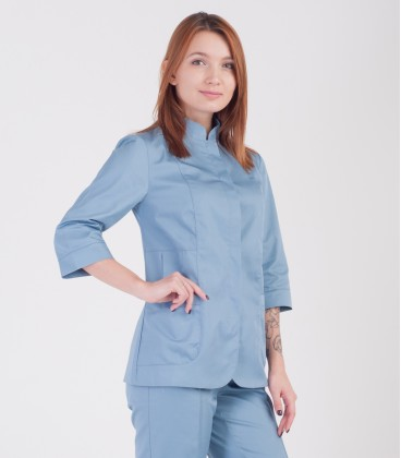 Медицинская куртка Розалия 1370-1 коттон серая