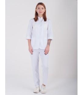 Медицинская куртка Розалия 1370-5 коттон белая