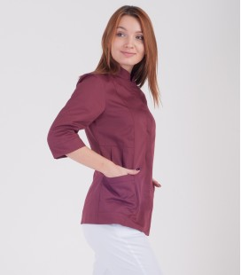 Медицинская куртка Розалия 1370-6 коттон шоколад