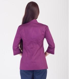 Медицинская куртка Розалия 1370-8 коттон фиолетовая