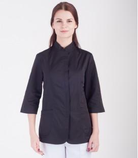 Медицинская куртка Розалия 1370-10 коттон черная