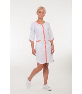 Медицинский женский халат 4159 Лиля коралл