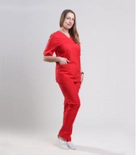 Медицинский костюм 0057-5 Астра красный