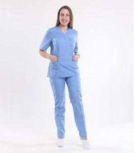 Медицинский костюм 0057-8 Астра голубой