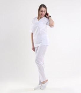 Медицинский костюм 0057-1 Астра белый
