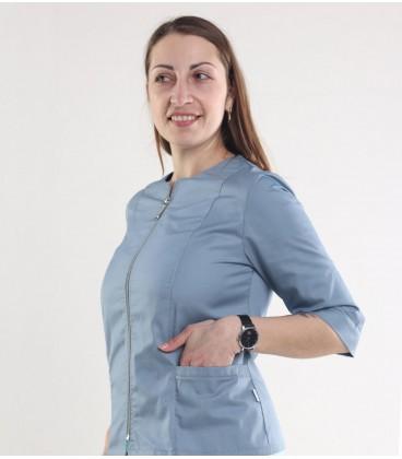 Медицинская куртка Мирта 1371-1 серая