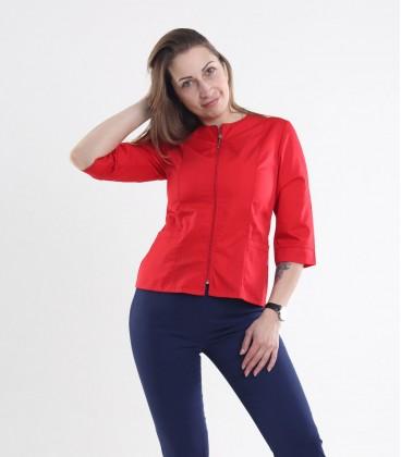Медицинская куртка Мирта 1371-2 красная