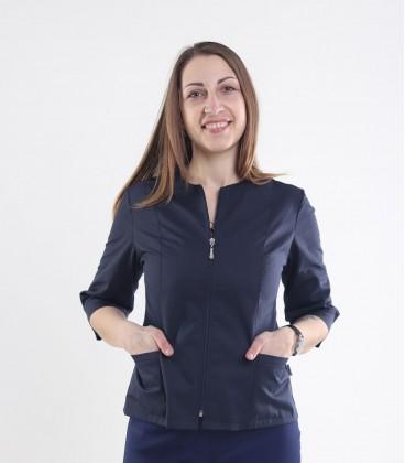 Медицинская куртка Мирта 1371-5 синяя