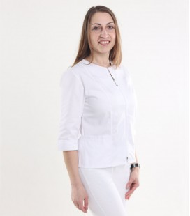 Медицинская куртка Мирта 1371-9 белая