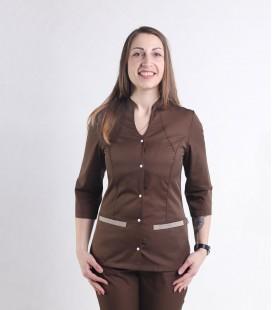 Медицинский костюм 1216-8 Камалия шоколад