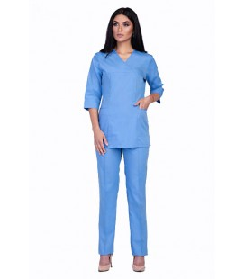Медицинский женский костюм 4219 голубой