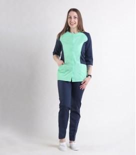 Женский медицинский костюм 0064-2 Эрика трава-синий