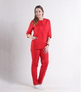 Женский медицинский костюм 0064-6 Эрика красный