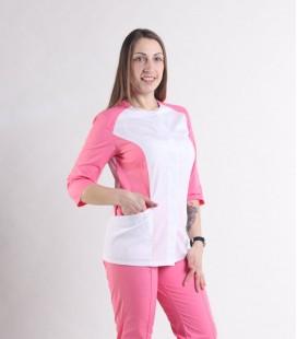 Женский медицинский костюм 0064-8 Эрика коралл-белый