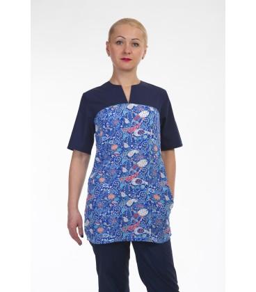 Медицинский костюм 4296 темно синий