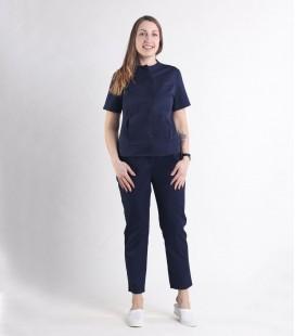 Женский медицинский костюм 0071-2 Вишня синий