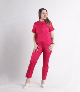 Женский медицинский костюм 0071-3 Вишня малина