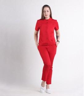 Женский медицинский костюм 0071-4 Вишня красный