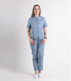 Женский медицинский костюм 0071-5 Вишня серый