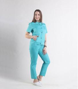 Женский медицинский костюм 0071-6 Вишня яблоко