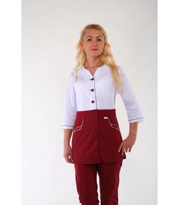 Медицинский женский костюм 4302 бордовый