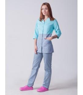 Медицинский женский костюм 5239 комбинированный