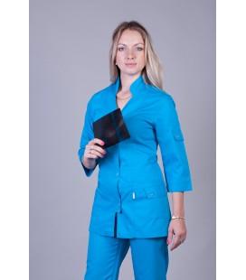 Медицинский женский костюм 5206 бирюза