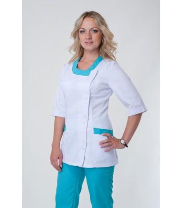 Медицинский костюм 5216 яблоко-белый