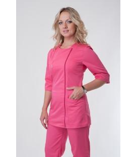 Медицинский женский костюм 5220 малиновый