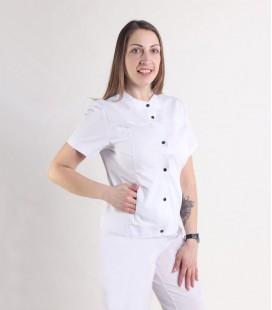 Женский медицинский костюм 0071-8 Вишня белый