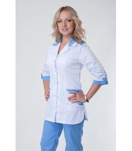 Медицинский костюм 5218 голубой-белый