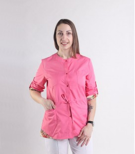 Женская медицинская куртка 1362-5 Ангелина коралловый батист