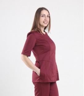 Медицинская куртка 1372-3 Дания бордо