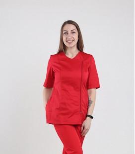 Медицинская куртка 1372-5 Дания красная