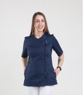Медицинская куртка 1372-6 Дания синяя