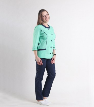Женский медицинский костюм 0054-5 Лара трава