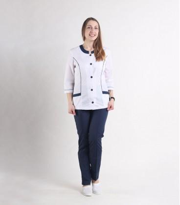 Медицинский костюм 0054-3 Лара белый