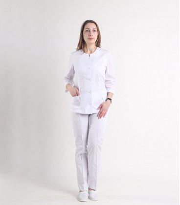 Женский медицинский костюм 0054-7 Лара белый