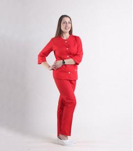 Женский медицинский костюм 0054-8 Лара красный