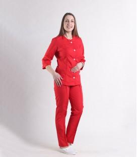 Женский медицинский костюм 0054-9 Лара красный