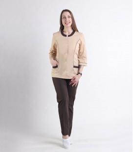 Медицинский костюм 0054-2 Лара коричневый